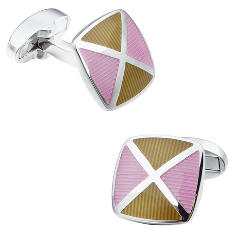 Ginger Square Enamel Cufflinks
