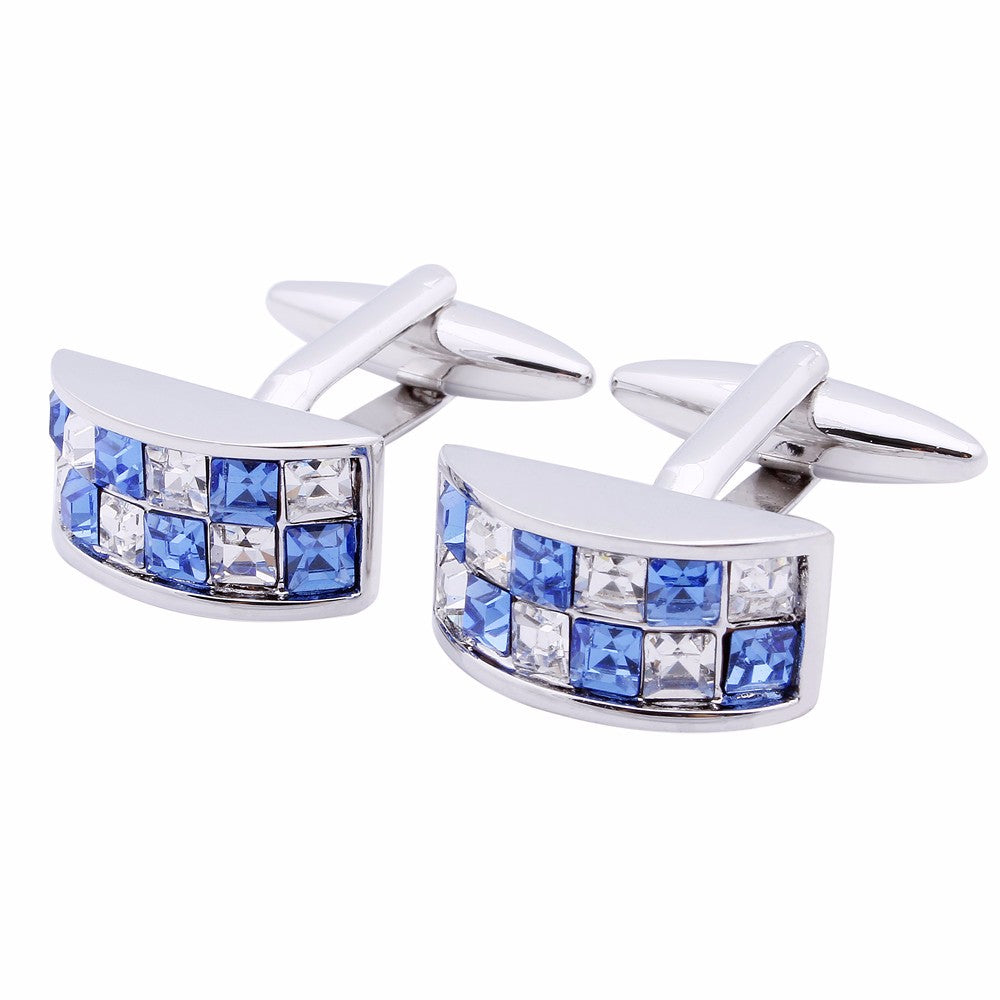 Luxury Blue Crystal Cufflinks