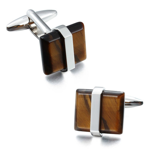 Tiger Eye Stone Vintage Cufflinks