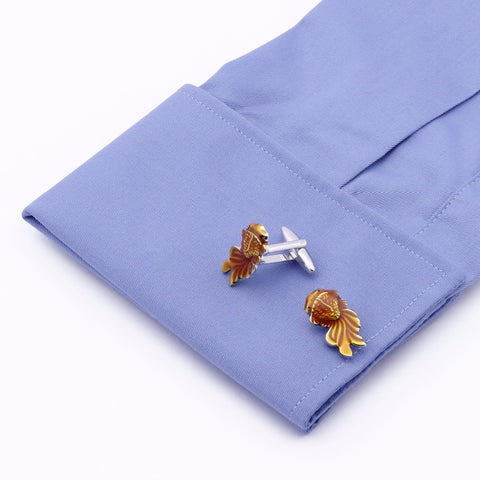 Gold Fish Cufflinks