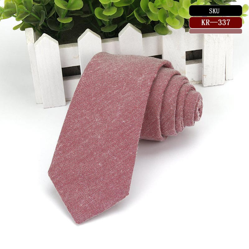 Business Cotton Slim Ties