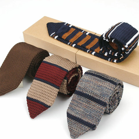 Men's Vintage Knitted Slim Ties