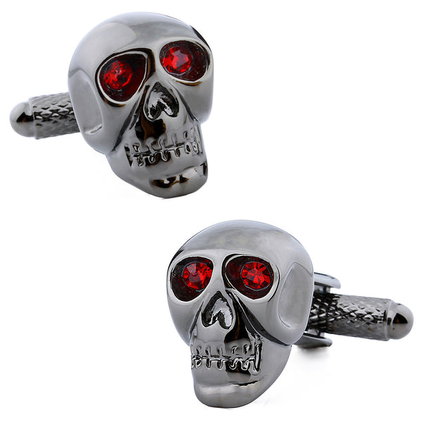 Red Crystal Skull Cufflinks