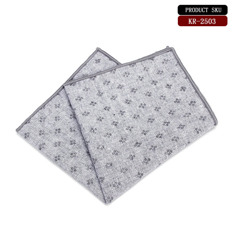 Diamond Pattern Cotton Pocket Square