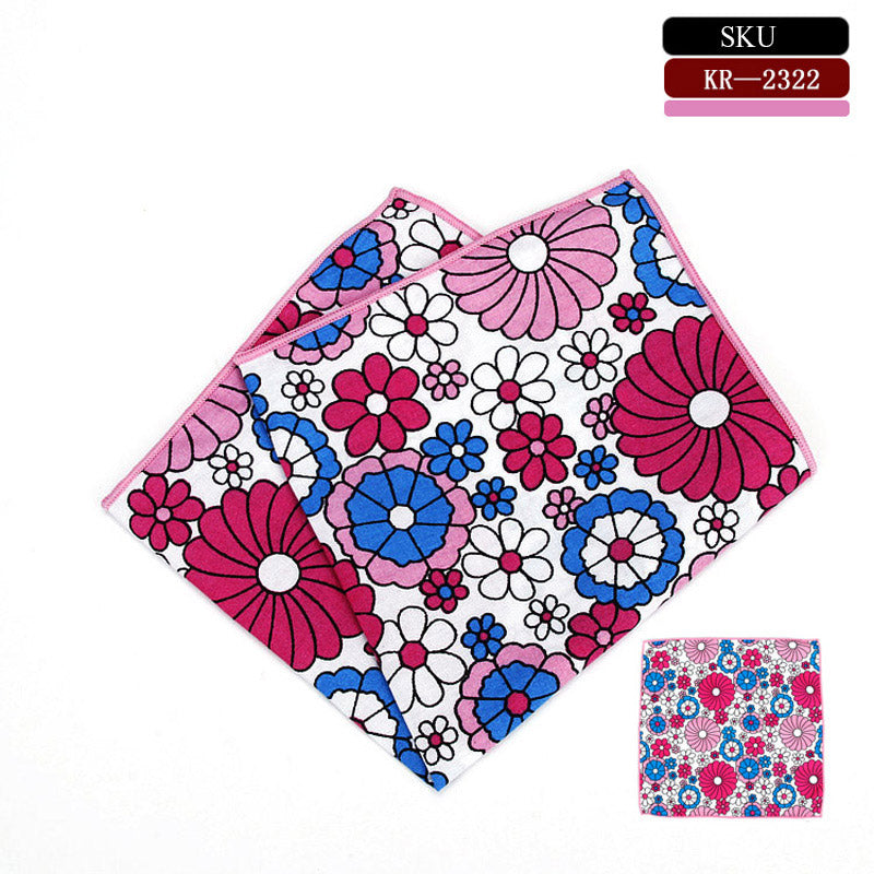 Bold Floral Printed Pocket Square