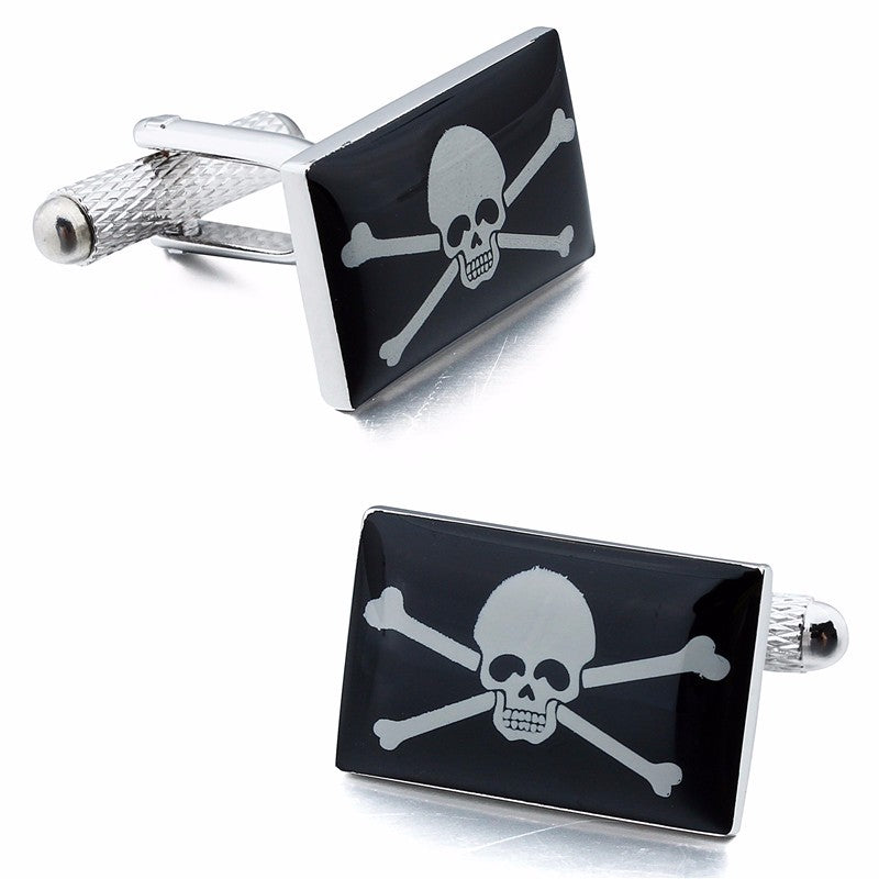 Skull And Cross Bone Cufflinks