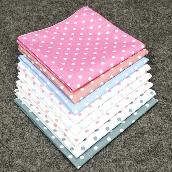 Vintage Polka Dot Cotton Pocket Squares