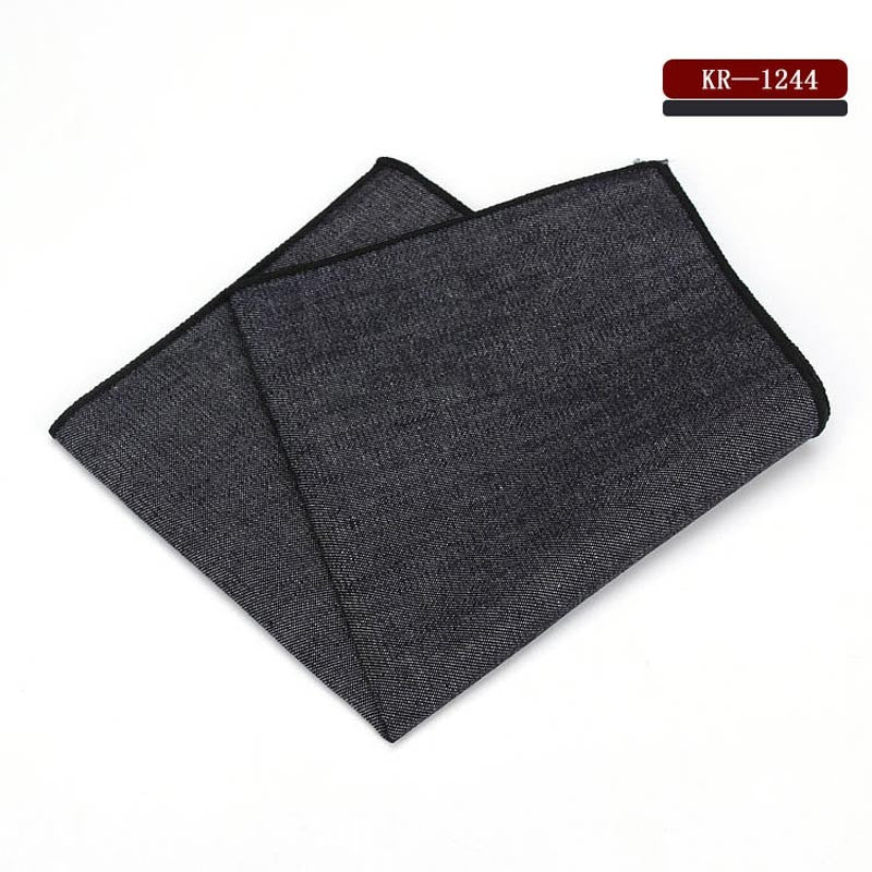 Denim Cotton Pocket Square