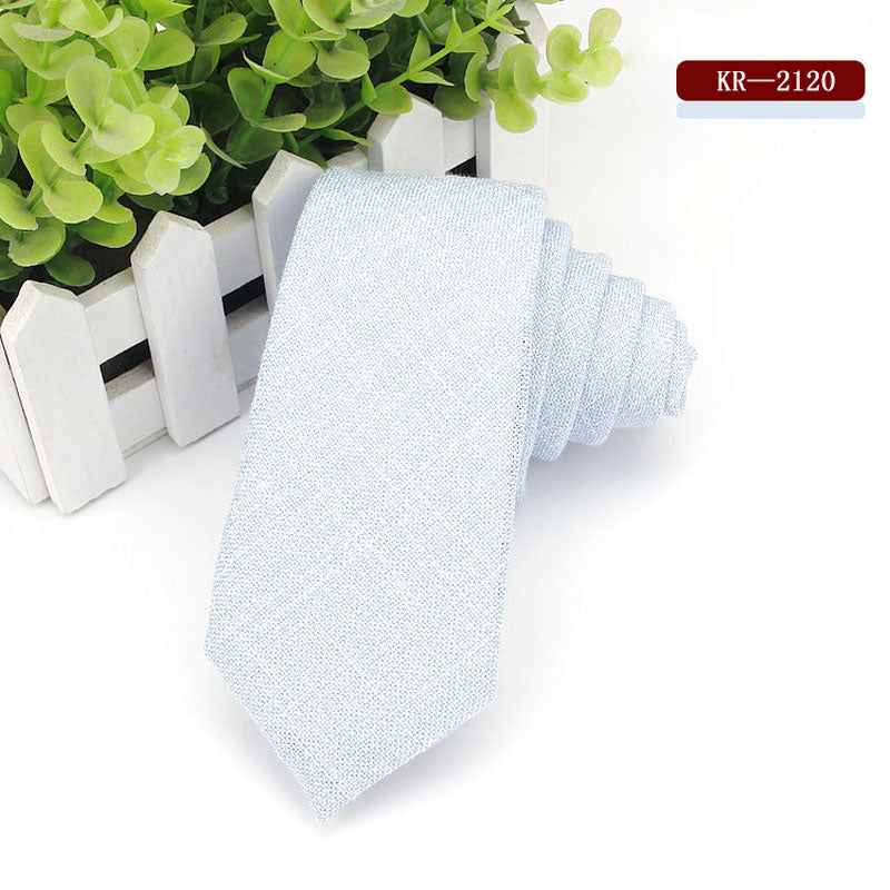 European Style Casual Cotton Slim Ties