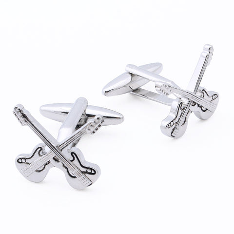 Double Guitar Cufflinks