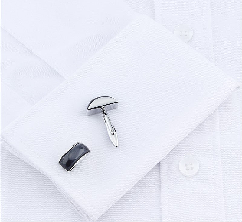 Luxury Dark Blue Stone Cufflinks