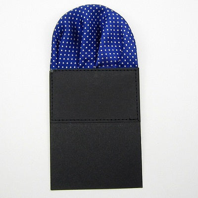 Dotted Polyester Silk Pre-folded Pocket Square