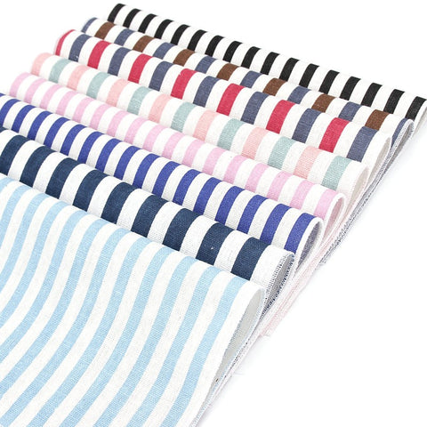 Men's Linen Cotton Striped Pocket Square