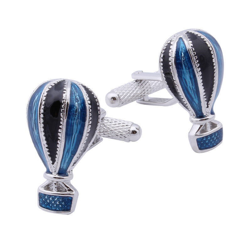 Fire Balloon Blue Cufflinks