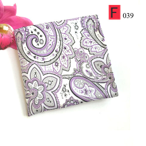 Luxury Silk Paisley Flower Handkerchief