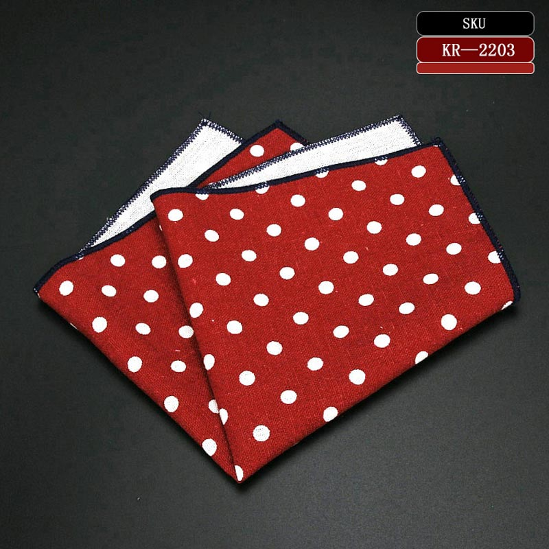 Linen Cotton Polka Dot Handkerchief