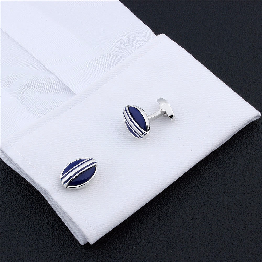 Blue Oval Stone Cufflinks