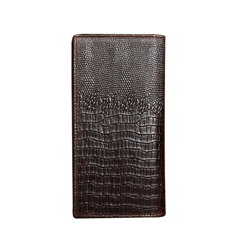 Alligator Design Genuine Leather Long Wallet