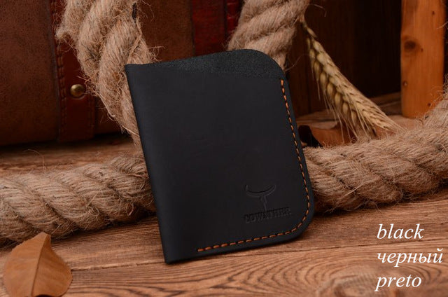 Genuine Leather Travel Card Holder
