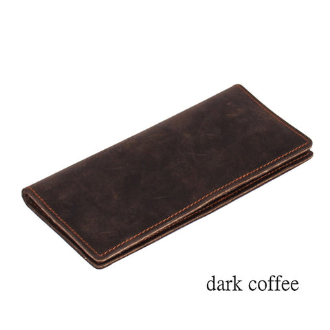 Genuine Leather Long Card Holder