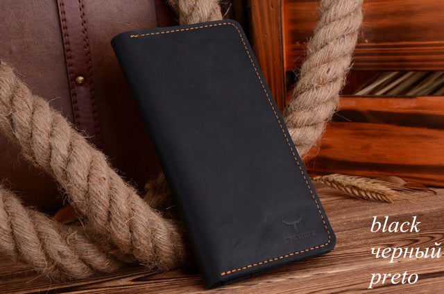 Men's Genuine Leather Long Wallet