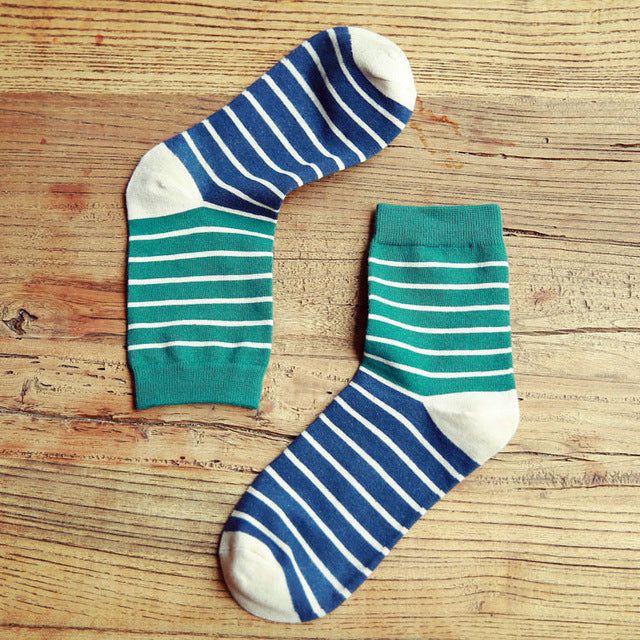 5 Pairs Men's Stripe Cotton Socks