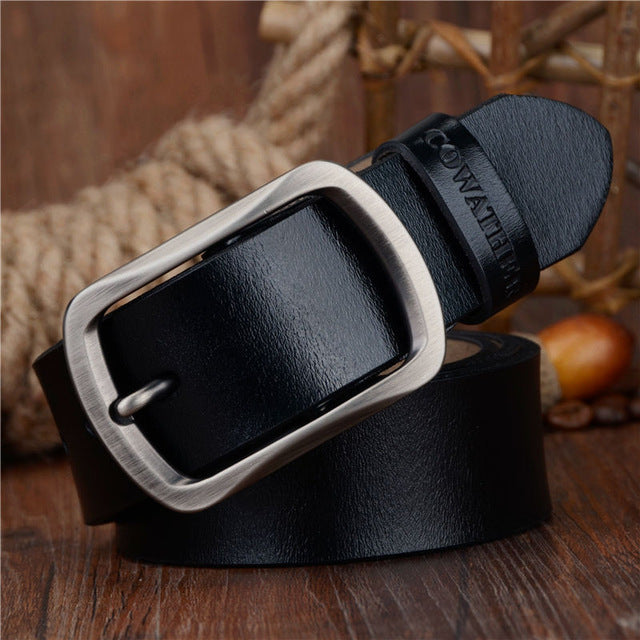 Cowather Men's Genuine Leather Belt - Large Sizes Available