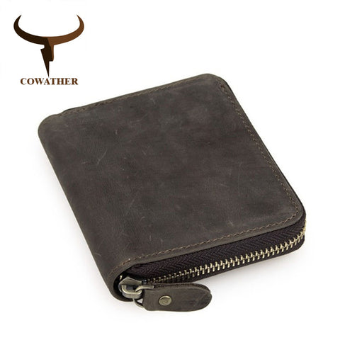 Genuine Leather Zipper Wallet