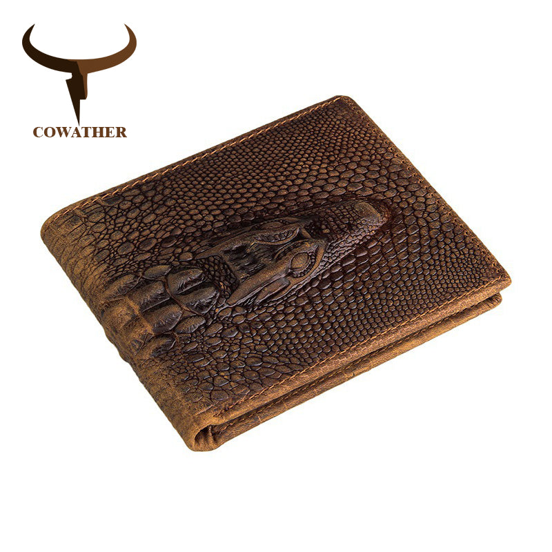 Brown Alligator Style Genuine Leather Wallet