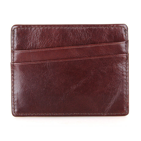 Genuine Leather Card Holder with Cash Pocket