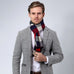 European Style Men's Cashmere Plaid Scarf