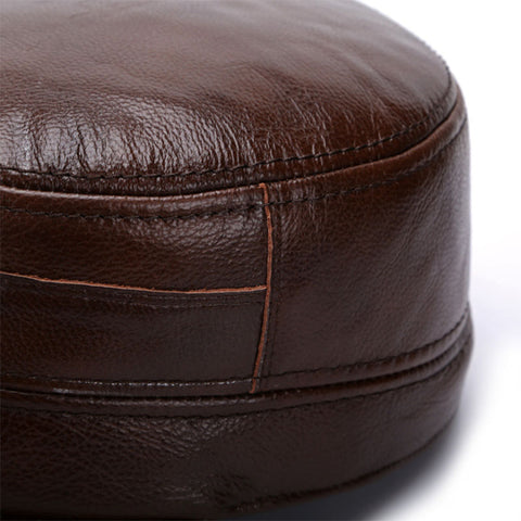 Genuine Leather Military Cap