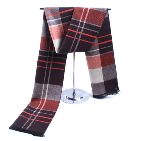 Warm Plaid Cashmere Scarf