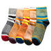 5 Pairs Colorful Fine Stripe Business Cotton Socks