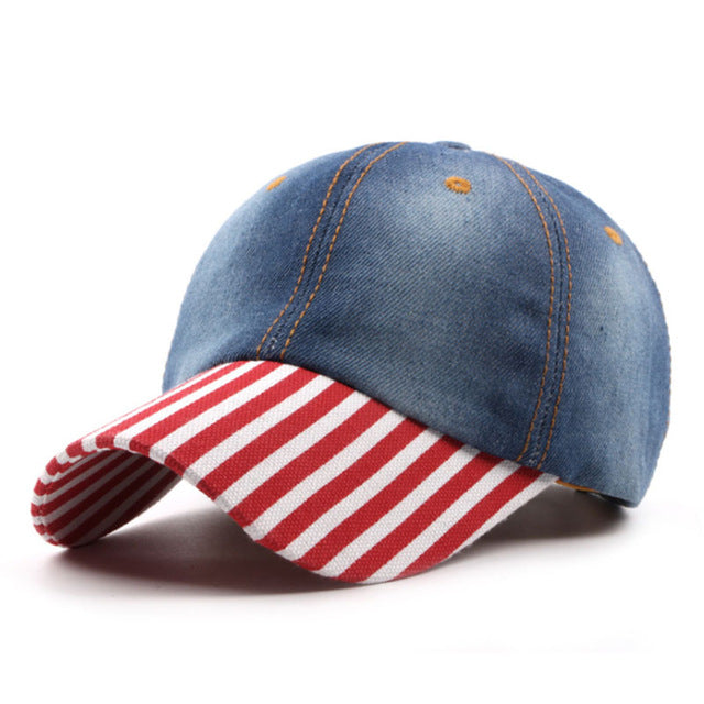 Denim Cotton Baseball Hat