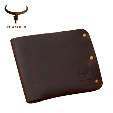 Compact Genuine Leather Wallet