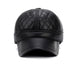 Black Winter Baseball Cap with Ear Flaps