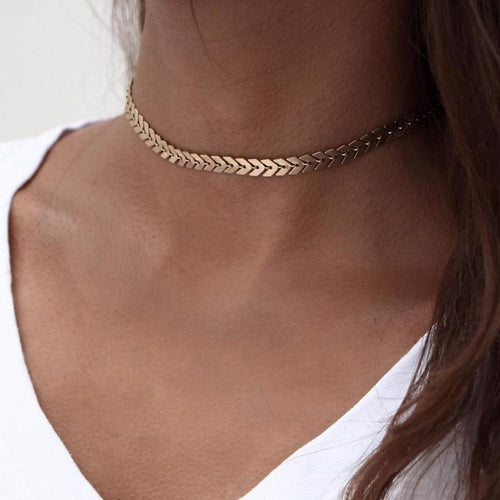 Chain Sequins Choker Necklace