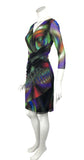 AJINA Crossover Multicolored Dress