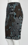 ARABESQUE Printed Jacquard Pencil Skirt