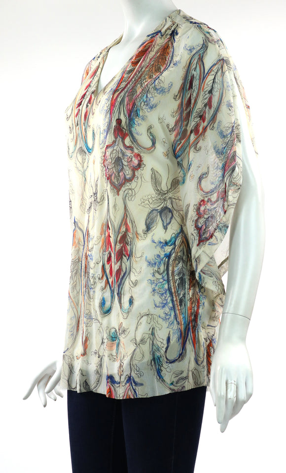 AYALA Light and Airy Short Caftan Blouse Tunic