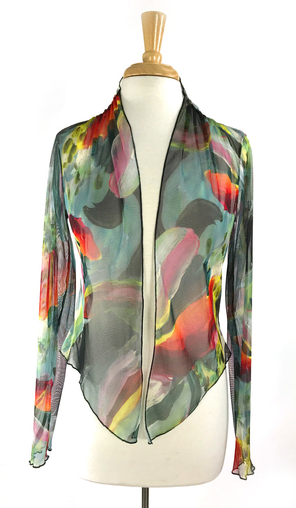 CARMEN Print Sheer Long Sleeve Jacket
