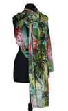 DIMITRIA Sheer Long and Wide Print Shawl