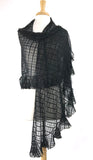 DOLCEVITA Ruffled Long & Wide Sheer Shawl