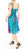 DYLAN Sleveless Abstract Fit N Flare Trapeze Paneled Dress