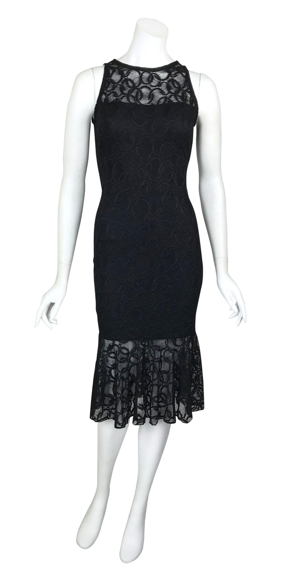 GOLDIE Fitted Lace Dress Black