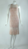 GOLDIE Fitted Lace Dress Pink