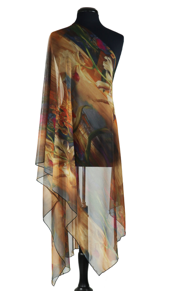IONNA Sheer Long and Wide Shawl