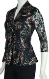 JILLIAN 3/4 Sleeves Fitted Printed Lace Jacket