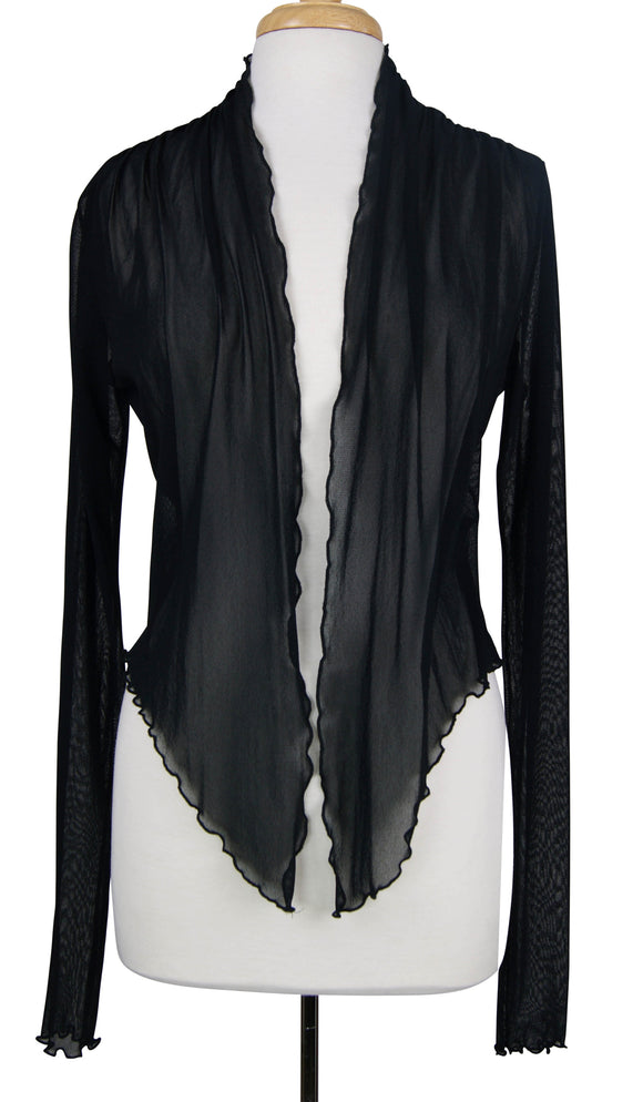 MAXIMA Sheer long Sleeve jacket Bolero Black